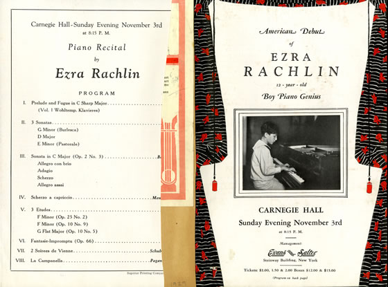 1929 Carnegie Hall flyer